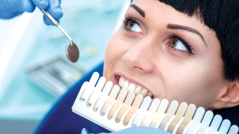 Woman Having Teeth Whitened | Toronto ON Dentist