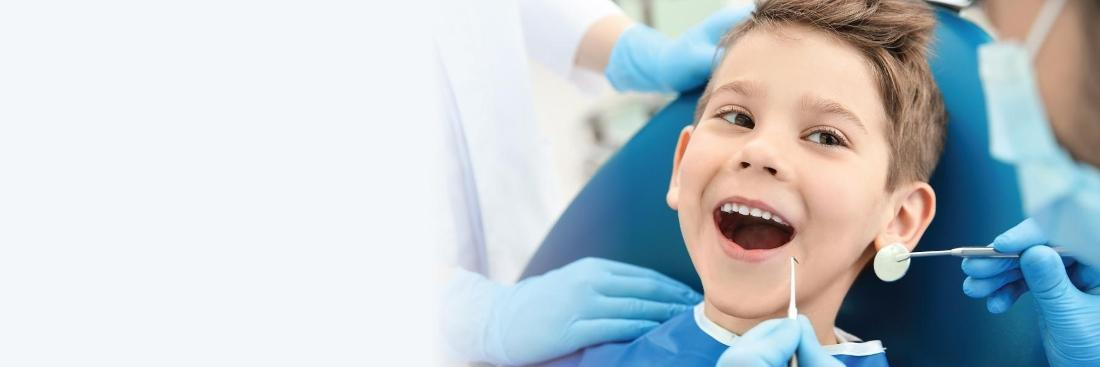 Young boy in dental chair | Toronto ON Dentist